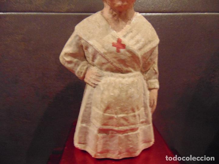Muñecas Composición: rarisima , carton, enfermera cruz roja , ver fotos 24 cm - Foto 4 - 183733081