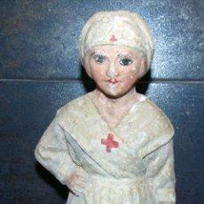 Muñecas Composición: RARISIMA , CARTON, ENFERMERA CRUZ ROJA , VER FOTOS 24 CM. Lote 183733081