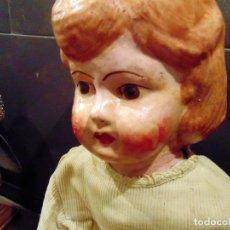 Muñecas Composición: ANTIGUA Y GRAN MUÑECA , CARTON, 77 CM , VER ADICIONALES. Lote 187120886