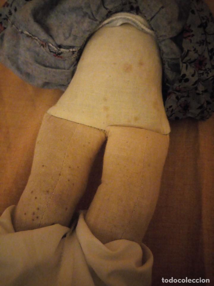 Muñecas Composición: Antiguo muñeco tortuga de composición,cabeza de celuloide,cuero de tejido relleno de serrín.años 50 - Foto 11 - 191744348