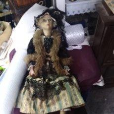 Muñecas Composición: MUÑECA DE TRAPO ANTIGUA. PARA RESTAURAR MIDE 85. C. M.. Lote 205673577