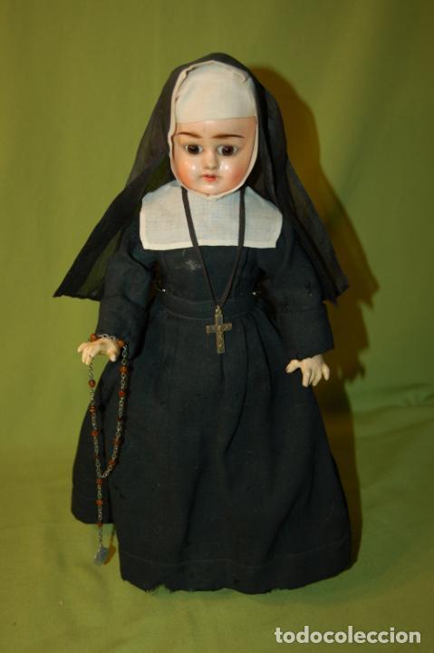 Muñecas Composición: muñeca monja antigua eden bebé? - Foto 3 - 208415995