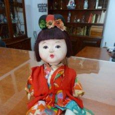 Bonecas Composição: MUÑECA MUSICAL JAPONESA ANTIGUA CON KIMONO (25 X 12 CM). Lote 212102228