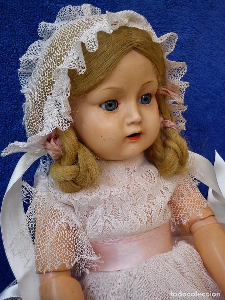 Muñecas Composición: Antigua muñeca Mariluz Alemana años 40-50 - Foto 3 - 221970312