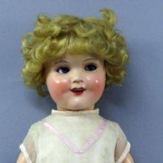 Bambole Composizione: MUÑECA SHIRLEY TEMPLE COMPOSICIÓN OJO DURMIENTE FLIRTY PELUCA NATURAL NUCA NUMERADA AÑOS 30 40 CM. Lote 224073945