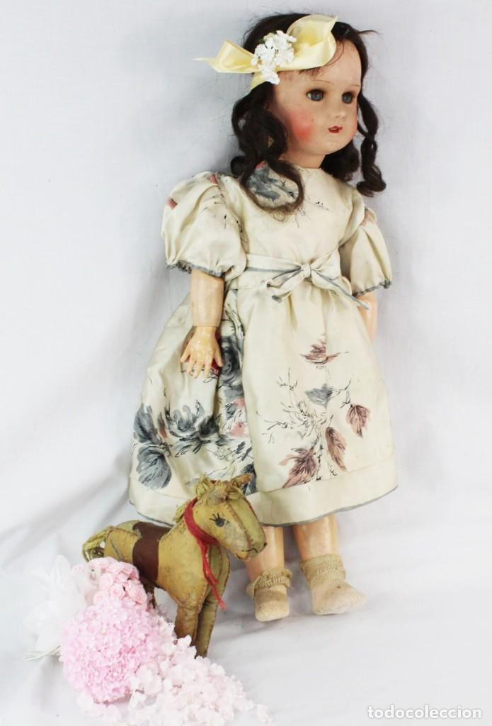Muñecas Composición: Ref T8 - Muñeca composición Andadora. Unis France 8 - Composition doll 52cm - Foto 3 - 224894031