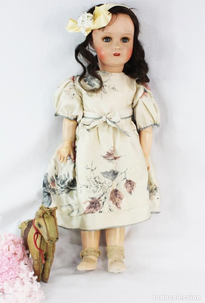 Muñecas Composición: Ref T8 - Muñeca composición Andadora. Unis France 8 - Composition doll 52cm - Foto 5 - 224894031