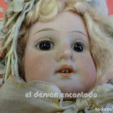 Bambole Composizione: ANTIGUA MUÑECA EN CAJA ORIGINAL. MUY BELLA. CABEZA PORCELANA Y CUERPO MADERA. TODA DE ORIGEN. Lote 239601685