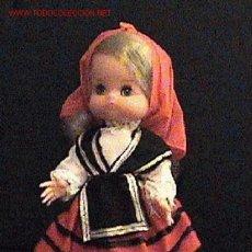 Muñecas Españolas Modernas: ANTIGUA MUÑECA AÑOS 1960 - MUÑECA REGIONAL GALICIA - MARCA EDURA - MIDE 30 CMS - OJOS MOVILES - MUY . Lote 27470971