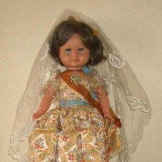 Muñecas Españolas Modernas: GRAN MUÑECA ALFONSO,VESTIDA DE VALENCIANA,AÑOS 60. Lote 19856356