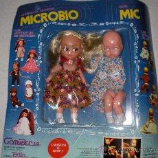 Muñecas Españolas Modernas: SUPER BLISTER CON MUÑEQUITA-MANIQUI MICROBIO Y BEBE MIC NUEVO PRECINTADO IMPECABLE. Lote 21805085