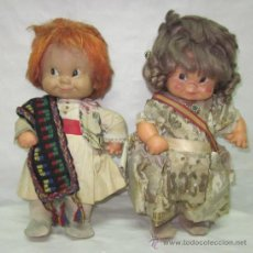 Muñecas Españolas Modernas: MUÑECOS JULIETA,VESTIDOS DE VALENCIANOS,FLORIDO,AÑOS 60. Lote 28319277