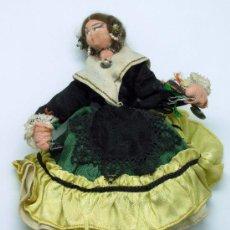 Muñecas Españolas Modernas: MUÑECA FIELTRO TRAPO TRAJE REGIONAL ARAGÓN TIPO ROLDÁN AÑOS 60 19 CM ALTO. Lote 29134234