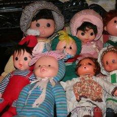 Muñecas Españolas Modernas: MUÑECOS ANTIGUOS DE GOMA AÑOS 70 PRECIO POR UNIDAD. Lote 30019809