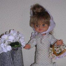 Muñecas Españolas Modernas: PRECIOSA MUÑECA VINILO DE LOS 50 MARCADA FLORIDO, ROPA ORIGINAL.. Lote 35375042