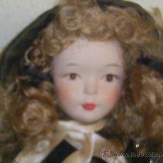 Muñecas Españolas Modernas: MUÑECA DE PORCELANA COLECCIÓN PINTADA A MANO OPORTUNIDAD. Lote 35520446