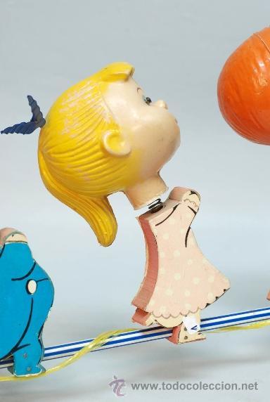 Muñecas Españolas Modernas: Arrastre Familia Telerín Telerines Vamos a la cama muñecos madera con cabeza plástico años 60 - Foto 10 - 39153755