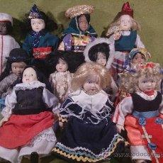 Muñecas Españolas Modernas: COLECCIÓN DE 11 MUÑECAS DE PORCELANA CON TRAJE REGIONAL.. Lote 39236764