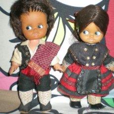 Muñecas Españolas Modernas: MUÑECAS DE AVELLANITAS REGIONALES TOYSE CATALANAS? AÑOS 60 COMPLETAS DE ORIGEN. Lote 40152548