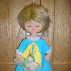 Muñecas Españolas Modernas: MUÑECA DE TRAPO VINTAGE,PARA METER EL CAMISÓN. Lote 40520976