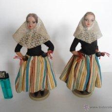 Muñecas Españolas Modernas: PAREJA DE MUÑECAS CON TRAJE REGIONAL MARCA BEIBI. Lote 40974415