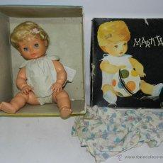 Muñecas Españolas Modernas: MUÑECA MARTITA, REALIZADA EN PLASTICO DURO Y CABEZA DE GOMA, CON OJO DURMIENTE, SISTEMA SONORO QUE N. Lote 43673917
