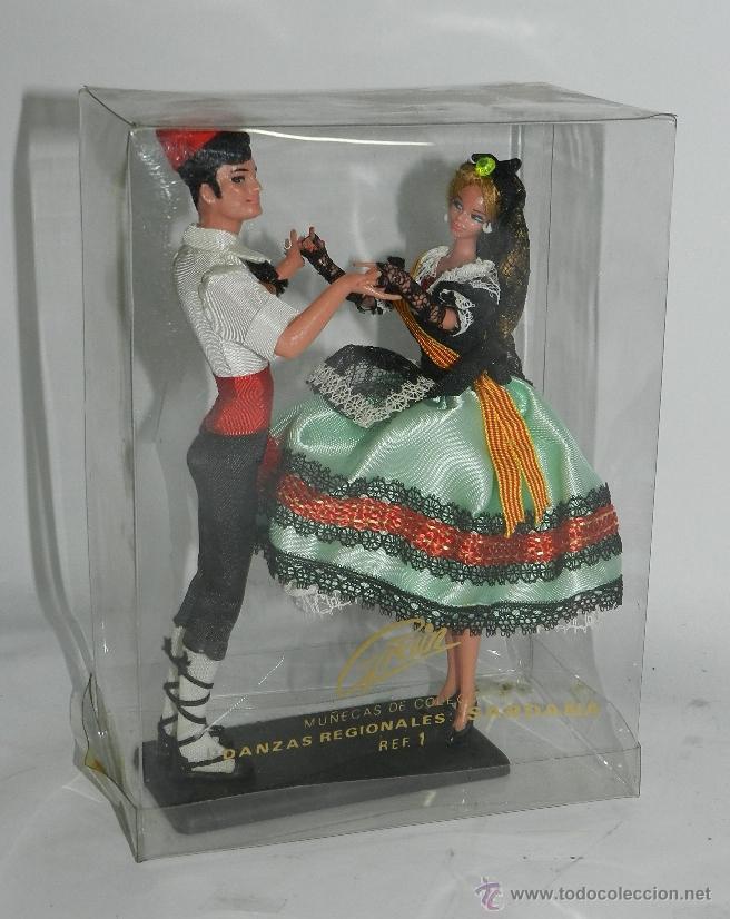 Muñecas Españolas Modernas: MUÑECAS GRAIN, PAREJA BAILANDO LA SARDANA, CATALUÑA, CATALUNYA, MIDEN 19 CMS. - Foto 2 - 43842900