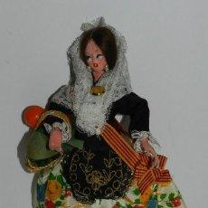 Muñecas Españolas Modernas: MUÑECA CON TRAJE REGIONAL DE FALLERA, CARA DE FIELTRO Y MANOS DE PLASTICO, MIDE 19,5 CMS.. Lote 43856974