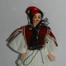 Muñecas Españolas Modernas: MUÑECO CON TRAJE REGIONAL, CARA REALIZADA EN FIELTRO, LAS MANOS SON DE PLASTICOS, MIDE 18 CMS.. Lote 43857413