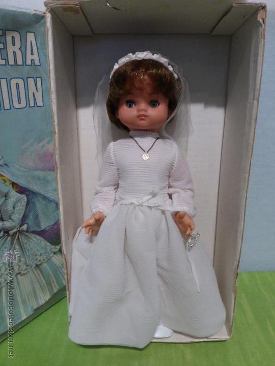 ANTIGUA MUÑECA ESPAÑOLA DE PRIMERA COMUNIÓN MARCA ARLEQUÍN N SU CAJA ORIGINAL-BUEN ESTADO-AÑOS 50-60 (Juguetes - Otras Muñecas Españolas Modernas)