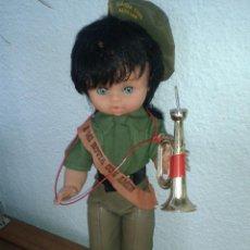 Muñecas Españolas Modernas: MUÑECA RECUERDO DEL SERVICIO MILITAR MILI *A MI NOVIA CON AMOR* GUARDIA CIVIL AUXILIAR AÑOS 70. Lote 45440703