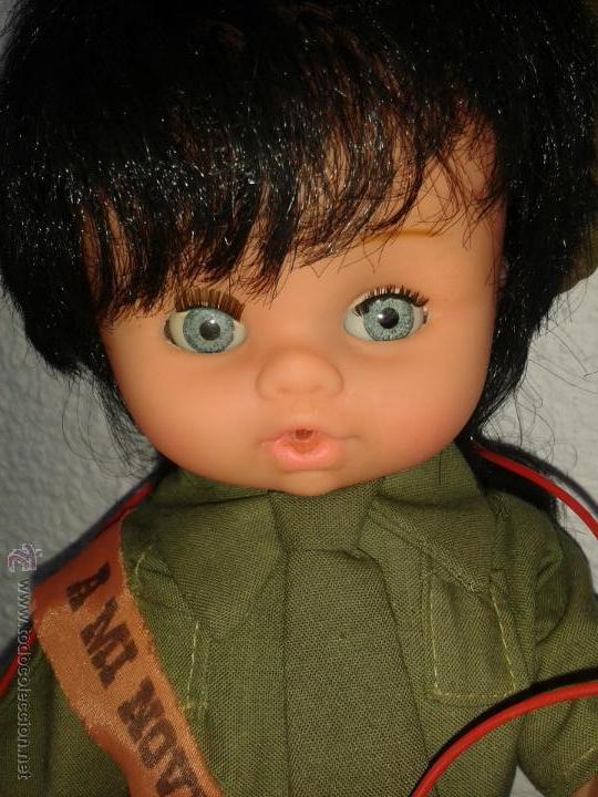 Muñecas Españolas Modernas: Muñeca recuerdo del servicio militar mili *A mi novia con amor* Guardia Civil Auxiliar años 70 - Foto 5 - 45440703