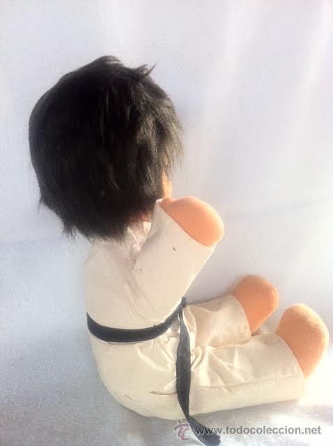 Muñecas Españolas Modernas: Precioso muñeco de tela ,vestido de judo o karate , de los 70. No jugado - Foto 3 - 46139355