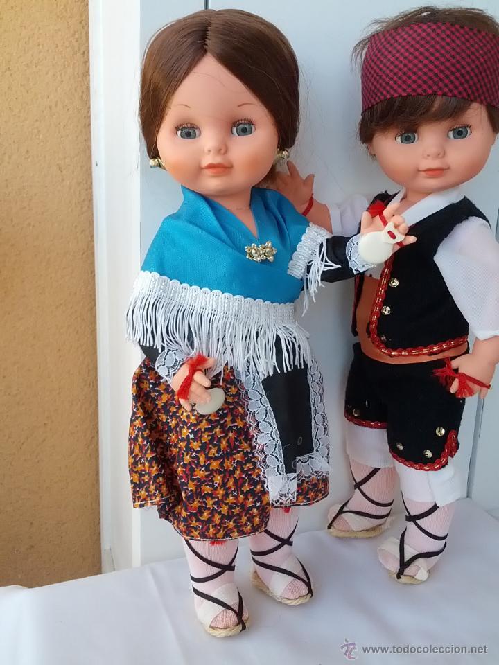 Muñecas Españolas Modernas: PAREJA DE MUÑECOS REGIONALES ARAGONESES DE TOYSE 40 CM AÑOS 70 - Foto 4 - 46591305
