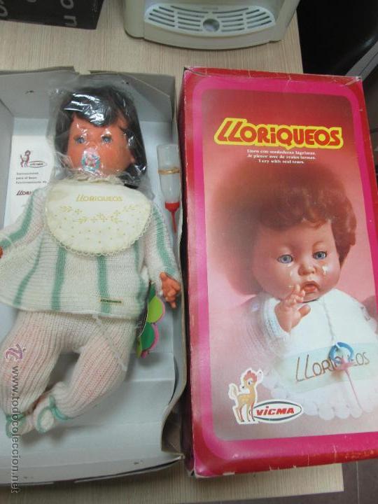 MUÑECO BEBE LLORIQUEOS DE VICMA AÑOS 70 NUEVO EN CAJA PERFECTO (Juguetes - Otras Muñecas Españolas Modernas)