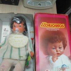Muñecas Españolas Modernas: MUÑECO BEBE LLORIQUEOS DE VICMA AÑOS 70 NUEVO EN CAJA PERFECTO. Lote 48429349