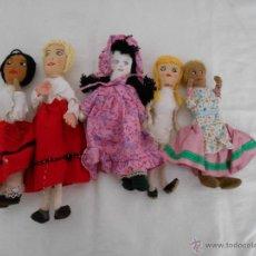 Muñecas Españolas Modernas: LOTE DE CINCO MUÑECAS DE TELA. Lote 48717684