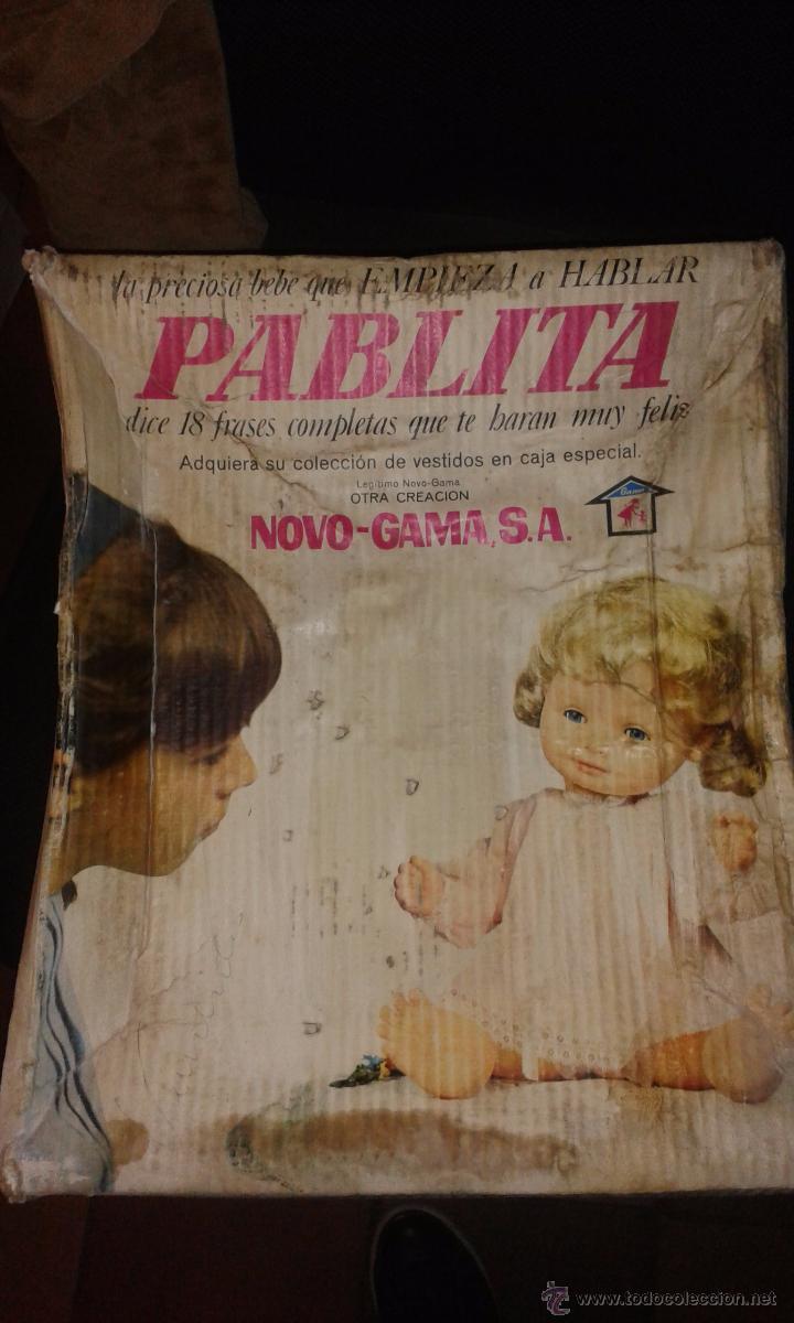 PABLITA DE NOVOGAMA NOVO GAMA AÑOS 70 CON SU CAJA ORIGINAL (Juguetes - Otras Muñecas Españolas Modernas)