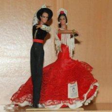 Muñecas Españolas Modernas: MUÑECA PAREJA BAILARINES SEVILLANAS REF.647 MARIN - CHICLANA MADE IN SPAIN. Lote 110578635