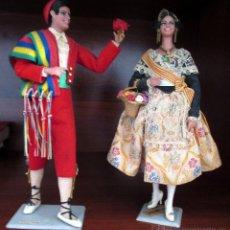 Muñecas Españolas Modernas: MARIN CHICLANA. PAREJA DE VALENCIANOS. 23 CM. VALENCIA. Lote 51402316