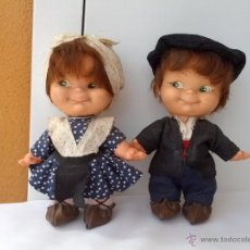 Muñecas Españolas Modernas: PAREJA DE MUÑECOS PINCHITOS DE BERJUSA REGIONALES AÑOS 70. Lote 51587119