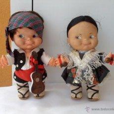 Muñecas Españolas Modernas: PAREJA DE MUÑECOS PINCHITOS DE BERJUSA REGIONALES AÑOS 70. Lote 51587133