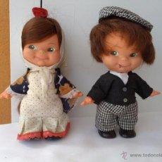 Muñecas Españolas Modernas: PAREJA DE MUÑECOS PINCHITOS DE BERJUSA REGIONALES AÑOS 70. Lote 51587146