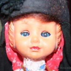 Muñecas Españolas Modernas - antigua muñeca regional ojos durmientes celuloide y plastico - 52716779