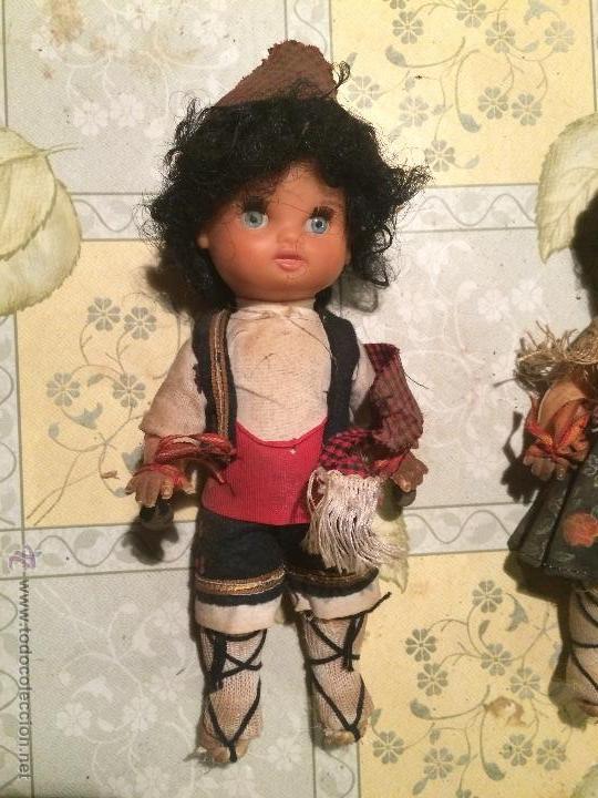 Muñecas Españolas Modernas: antiguas muñecas regionales catalanas con vestimenta regional. muñeco y muñeca - Foto 2 - 52748324