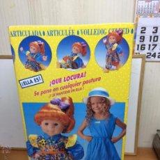 Muñecas Españolas Modernas: MUÑECA POCAS PECAS LOCA LOCA DE FEBER DE CASI 70 CM LA MUÑECA SIN USAR . Lote 53032908