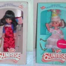 Muñecas Españolas Modernas: MUÑECA SUNRISE IN AMERICA. COMPRADA EN EE.UU. + PULSERA. Lote 27505109