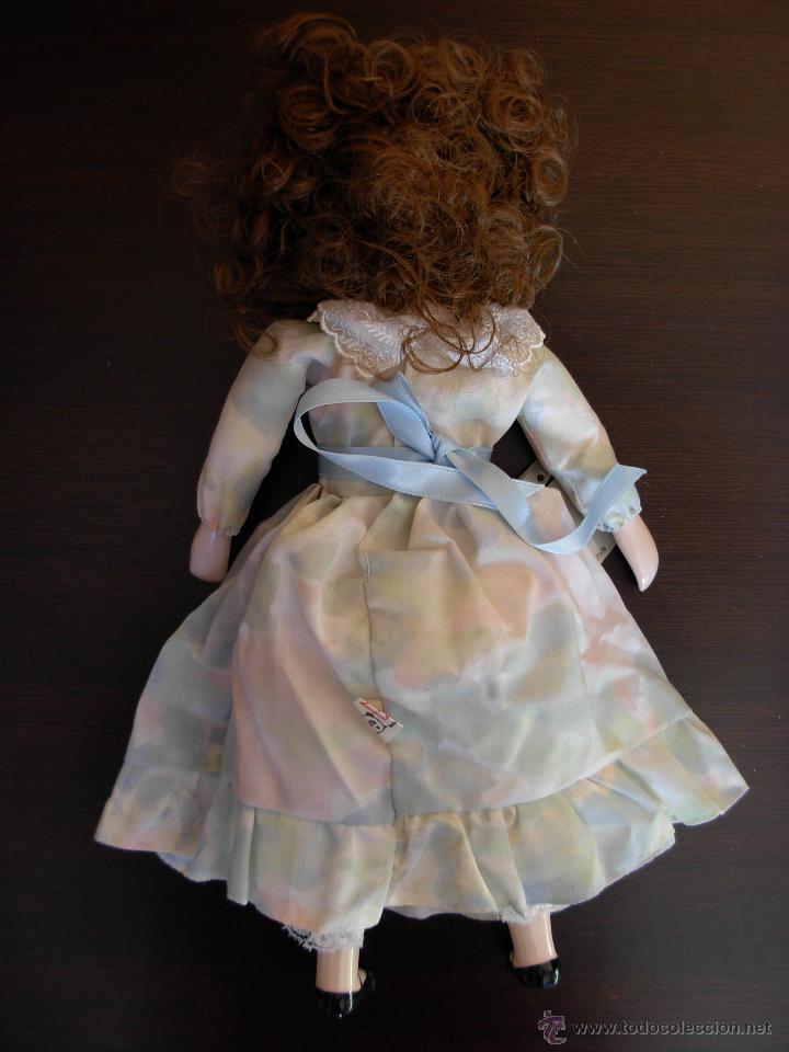 Muñecas Españolas Modernas: Muñeca de porcelana fina marca Fanás. Conserva la caja original. Años 80 - Foto 4 - 54640137