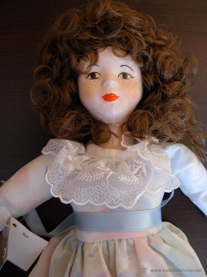 Muñecas Españolas Modernas: Muñeca de porcelana fina marca Fanás. Conserva la caja original. Años 80 - Foto 6 - 54640137