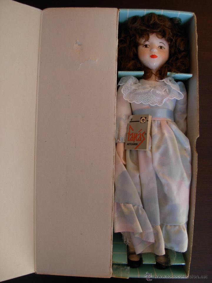 Muñecas Españolas Modernas: Muñeca de porcelana fina marca Fanás. Conserva la caja original. Años 80 - Foto 10 - 54640137